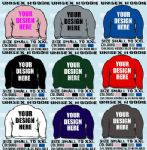 20 PERSONALISED HOODED TOPS HOODIES ADULT YOUR DESIGN
